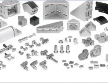 Aliuminio profilių tvirtinimo elementai